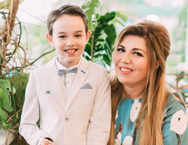 Екатерина Скулкина с сыном