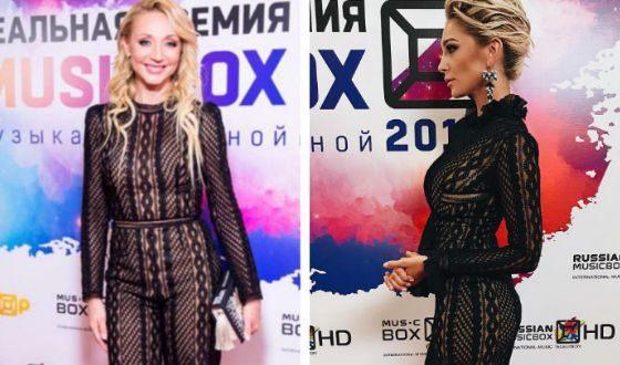 Кристина Орбакайте и Настя Ивлеева в одинаковых платьях
