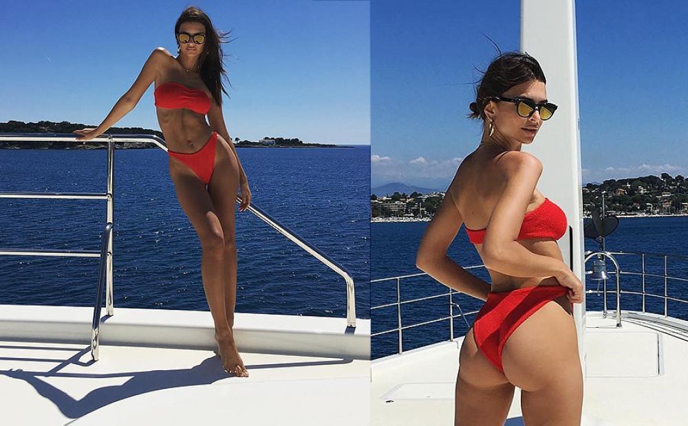 Эмили Ратажковски фигура без фотошопа в бикини